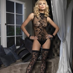 Leg Avenue 2 Piece Jacquard Body with Stockings