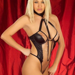 See Through Halterneck Body Stocking