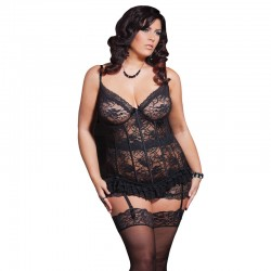 Coquette Stretch Lace Bustier 1X to 2X